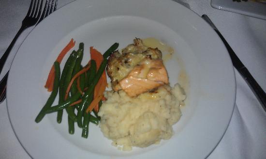McCormick & Schmick's Seafood: Stuffed Atlantic Salmon