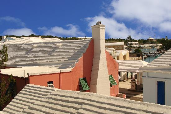 Whitewashed roofs over St. George's, Bermuda