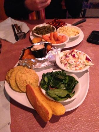 Ramsey's Diner: veggie trio and chicken breast