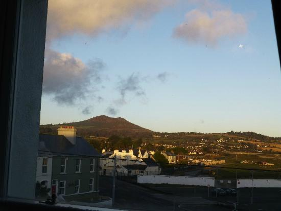 Slievemore House: view of hills from room