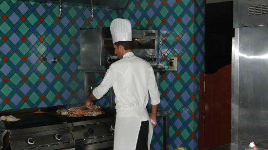 The Ritz-Carlton, Doha: The chef at the Lagoon