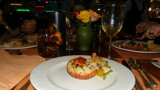 The Ritz-Carlton, Doha: Grilled lobster and some fine wine