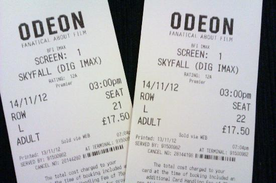 British Film Institute IMAX Cinema: James Bond - Skyfall