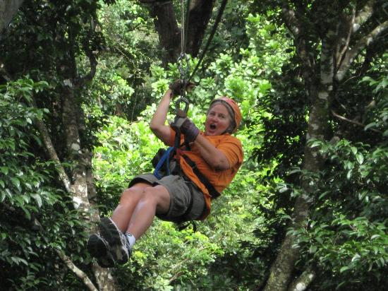 The Congo Trail Canopy Tour: First time zip liner, can you tell ???