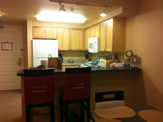View Of Kitchen From Living Dining Area In Two Bedroom Unit Picture Of Worldmark Anaheim