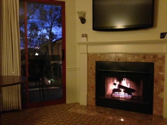 BEST WESTERN PLUS Victorian Inn: Room 207 - Cozzy fireplace and a view to the bay....