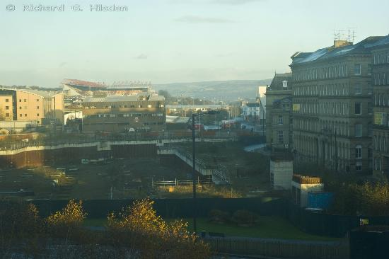 Premier Inn Bradford Central Hotel: taken through a dirty window
