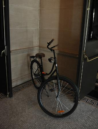 The NoMad Hotel: Bikes in the lobby.  Can you use them?