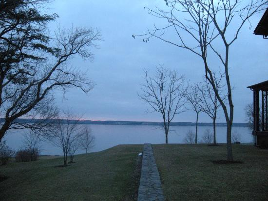 E.B. Morgan House: View of lake behind the Inn