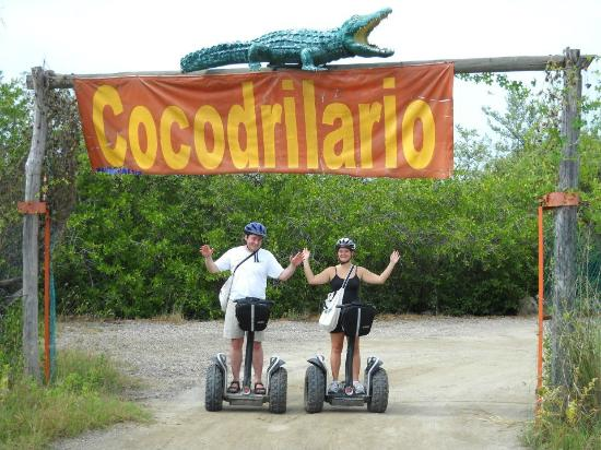 Segway Tours Vallarta : The entrance to the Cocodrilario after a Segway ride offroad