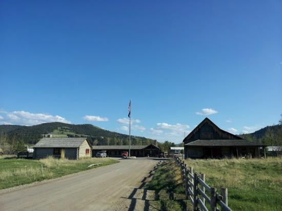 The Ranch at Rock Creek: Looking towards our lodge and the Rod and Gun