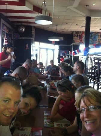 TGI Friday's: Squeezed in