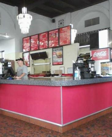 Bill Thomas' Halo Burger Incorporated: Front Counter at Saginaw St. Location