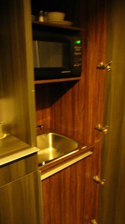 Hotel Zero 1: microwave, sink...