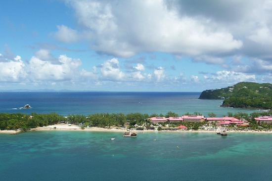 Sandals Grande St. Lucian Spa & Beach Resort: Taken while para-sailing
