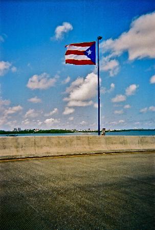Flamenco Beach Campground Puerto Rico Flag