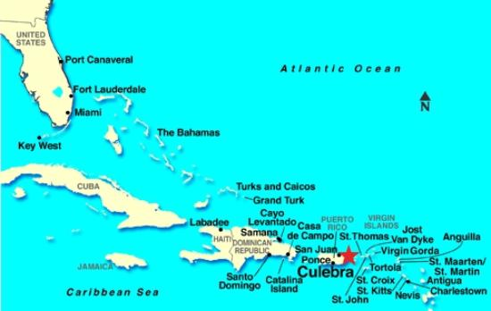 Flamenco Beach Campground Map Of Caribbean Puerto Rico Flag