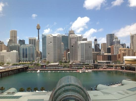 Novotel Sydney on Darling Harbour: view from harbourside room