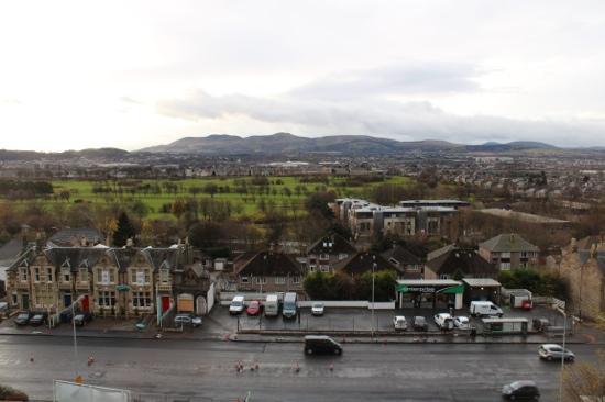Holiday Inn Edinburgh: view from 4th floor