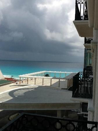 Partial ocean view from balcony