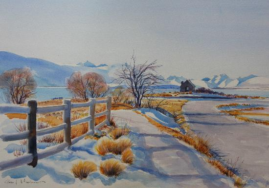 Glacier Rock Bed and Breakfast: painting by the owner