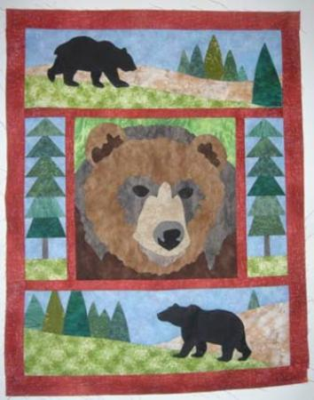 "Nine Quarter Circle Ranch: First Years' Quilt: ""Grizz"""