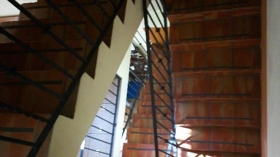 Olga Querida: Vista de escaleras