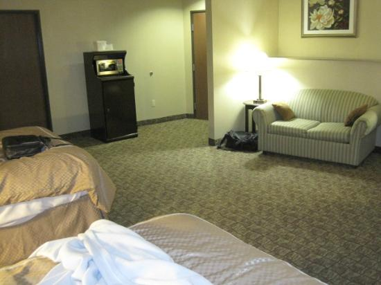 Comfort Suites Bloomsburg: large sitting area