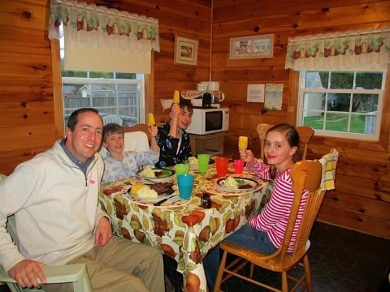 North Rustico Motel Cottages & Inn: Enjoying our own 'home-cooked' supper
