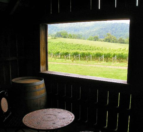 Foster Harris House: View from the tasting room of a local winery