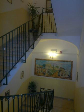 Hotel Impero: escadas