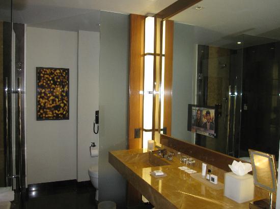 Bathroom With Tv In Mirror Picture Of Jw Marriott