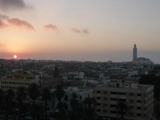 Novotel Casablanca City Center: View of Casablanca at sunset from room at Novotel City Center