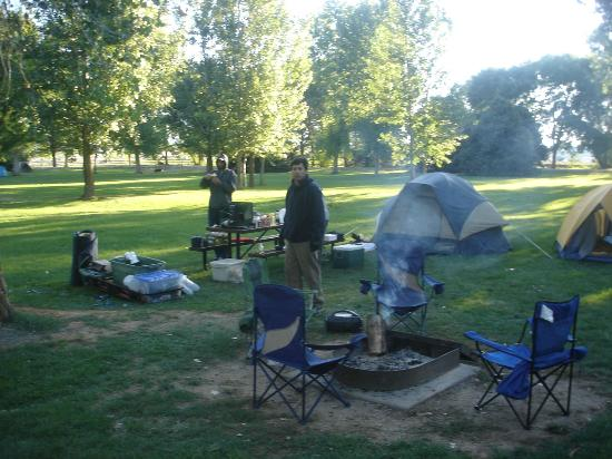 Fruita Campground: tents