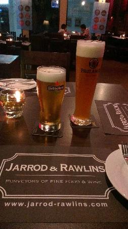 Jarrod & Rawlins: the happy hour draught beer
