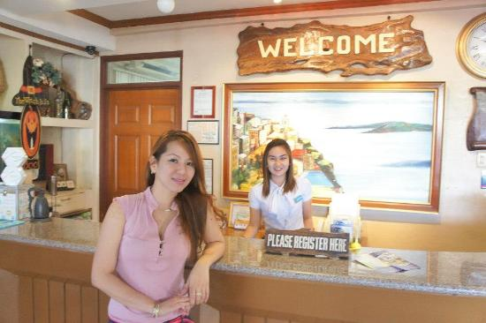 Subic Park Hotel: with the wonderful Recep Melissa