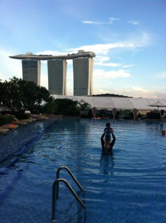 The Fullerton Bay Hotel Singapore: 수영장과 렌턴바