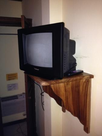 Hotel Villa Romantica: the tiny tv set
