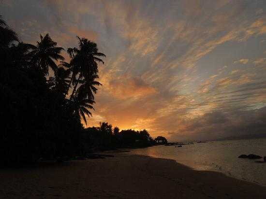 Coconut Grove Beachfront Cottages: Sunset on the beach in front of Coconut Grove