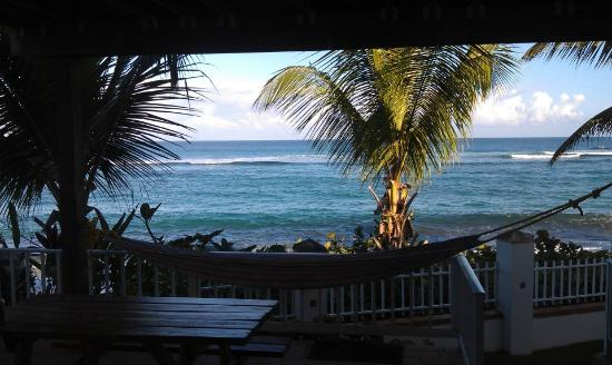 Villa Tropical Oceanfront Apartments on Shacks Beach: View from our VIlla
