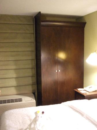 "Hampton Inn Indianapolis - NE / Castleton: This is the closet (closed) - about 12"" deep x 2 ft wide"