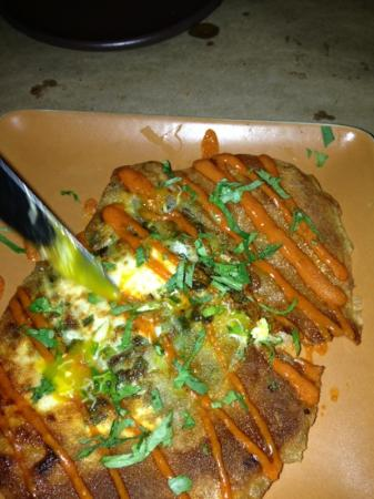 Zuzu: tunsian brik with Dungeness crab and organic egg. yum