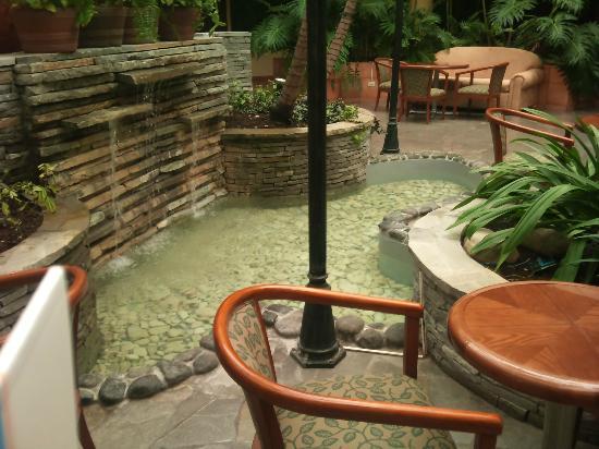 Hodelpa Garden Suites : Bella fuente en recepcion