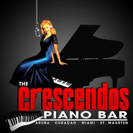 Crescendo Piano Bar: The piano lady logo