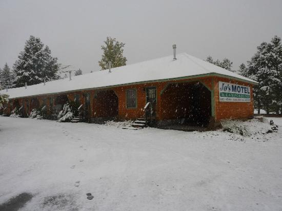 Jo's Motel and Campground: First snow of the season, October 28, 2012