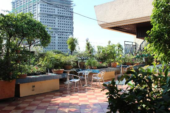 Stone House Quezon City: View of the rooftop deck