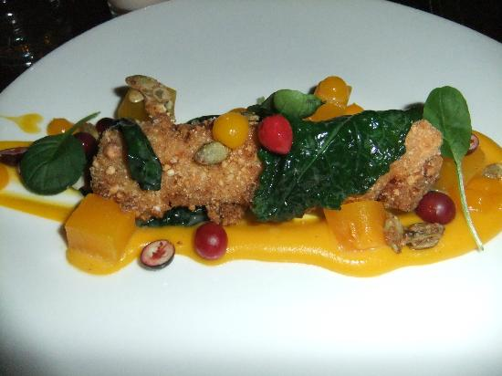 Spur Gastropub: Veal Sweetbreads with Heirloom Squash and Kale