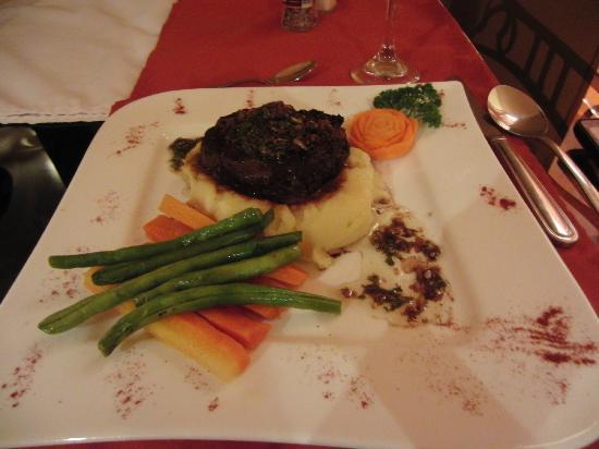 El Olivo Restaurant - Steak in chimichurri sauce