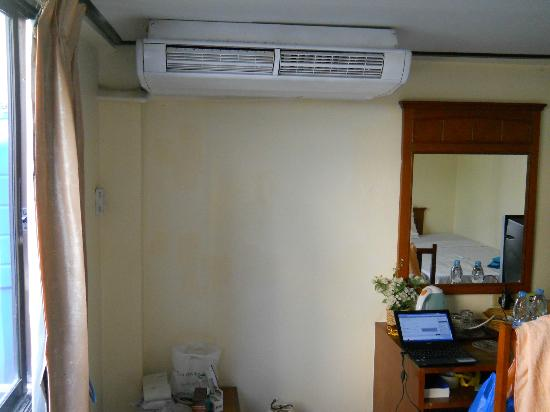 The Minotel: A/C and work table