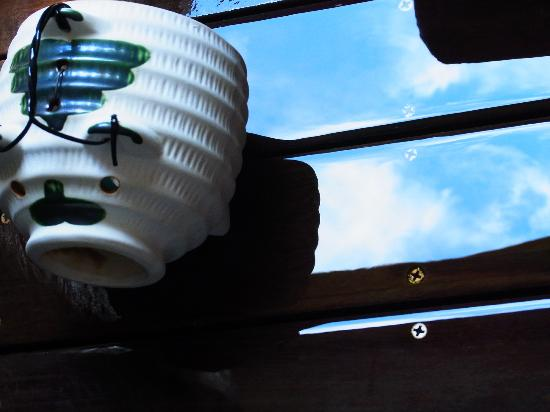 Hakone Suishoen: 部屋の露天風呂のところに、蚊取り線香